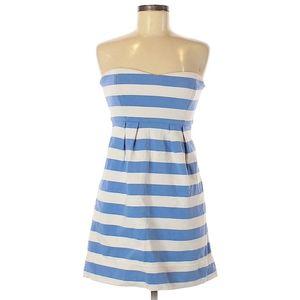 J. Crew Striped Strapless Casual Dress